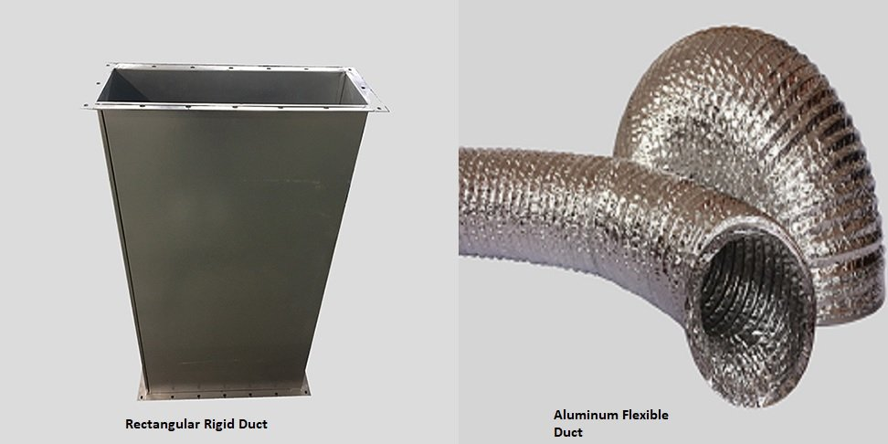 Ridid duct vs flexible duct