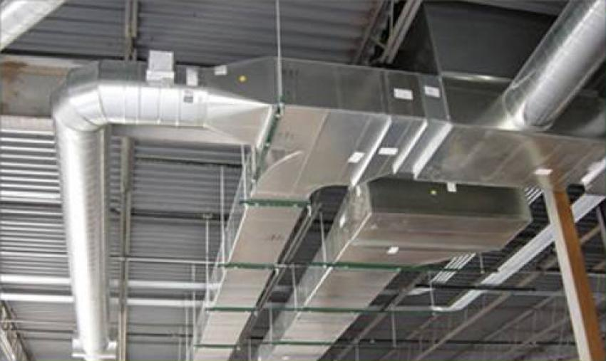 Fully installed rigid ductwork