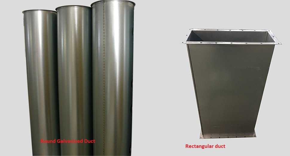 Round duct vs rectangular duct