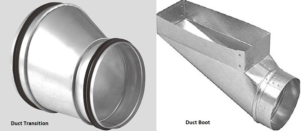Duct transition vs duct boot