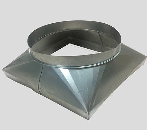 Duct transition from round to rectangle
