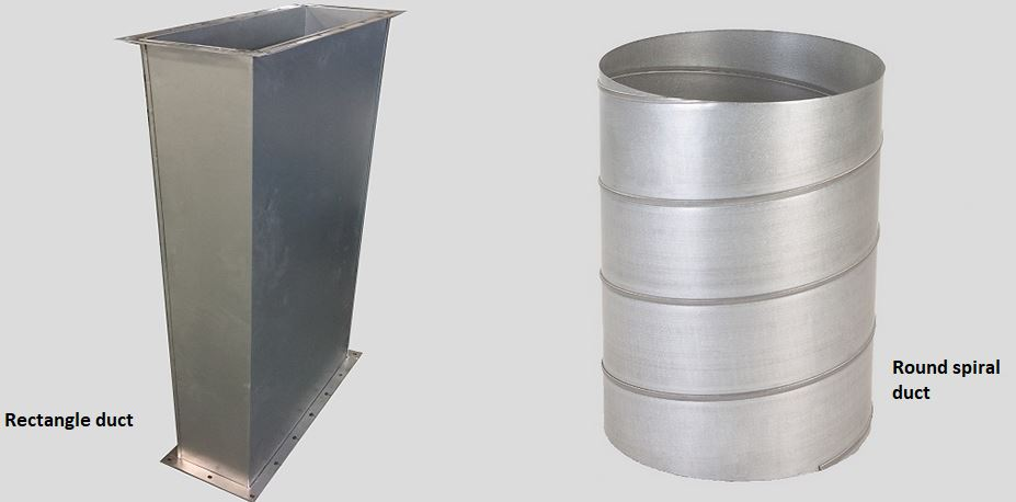 Rectangle duct to round duct