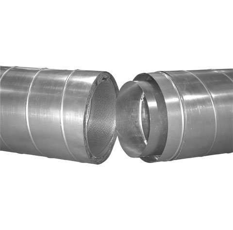 Joining double wall spiral ducting